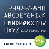 Font for credit cards. Sign numbers realistic Royalty Free Stock Photography