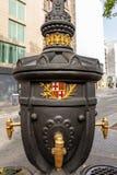 Font de Canaletes - πηγή κατανάλωσης - Ramblas Βαρκελώνη Ισπανία στοκ εικόνες