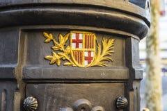 Font de Canaletes στις βόλτες Les της Βαρκελώνης, Καταλωνία, Ισπανία στοκ εικόνες με δικαίωμα ελεύθερης χρήσης