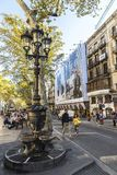 Font de Canaletes στις βόλτες Les της Βαρκελώνης, Καταλωνία, Ισπανία στοκ φωτογραφίες