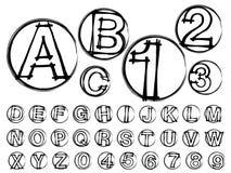 Font design alphabet Stock Photos