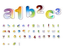 Font design alphabet Royalty Free Stock Images