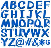 Font design for alphabets and signs Royalty Free Stock Photo