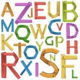 Font design of english alphabet Stock Images