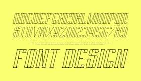Font design Royalty Free Stock Photos