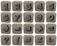 Font design for numbers and math signs. Illustration Stock Image