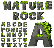 Font design with rock texture Royalty Free Stock Photography
