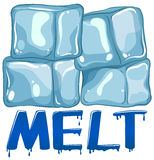 Font design for word melt Stock Photography
