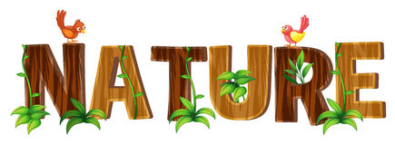 Font design with word nature Stock Image