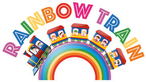 Font design for word rainbow train Royalty Free Stock Image