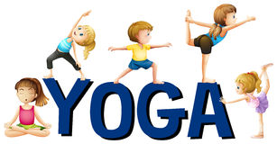 Font design with word yoga Royalty Free Stock Photo
