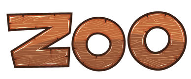 Font design for word zoo. Illustration Royalty Free Stock Images