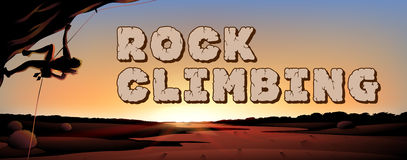 Font design for world rock climbing Royalty Free Stock Photography