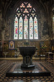 Font in Doncaster Minster Stock Photos