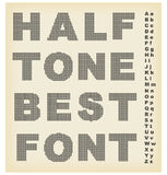 Font with effect halftone Royalty Free Stock Images