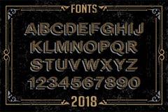 Fonts in attractive design. Font english alphabet designer idea Royalty Free Stock Image