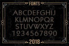 Fonts in attractive design. Font english alphabet designer idea royalty free illustration