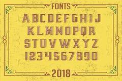 Fonts in attractive design. Font english alphabet designer idea Stock Photos