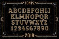 Fonts in attractive design. Font english alphabet designer idea Stock Image