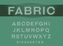 font fabric patch vector Royalty Free Stock Photos