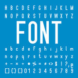 Font family and Alphabet Vector Font Design Royalty Free Stock Image