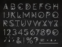 Font Flat chalk Stock Photos