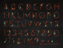 Font Flat chalk red Royalty Free Stock Photography