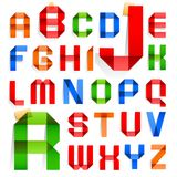 Font folded from colored paper -  Alphabet Stock Images
