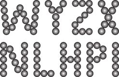 Font. With ball shapes - vector illustration Stock Photo