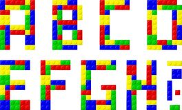 Font. Made with plastic blocks Stock Photo