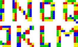Font. Made with plastic blocks Royalty Free Stock Photography