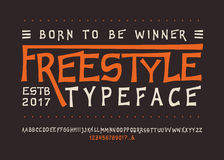 Font FREESTYLE. Craft Royalty Free Stock Photography