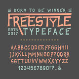Font FREESTYLE. Craft Royalty Free Stock Images