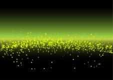 Font Galaxy - green Stock Image