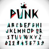 Font with glitched stereo effect. Stock Image