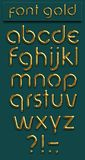 Font gold Stock Image