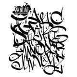 Font graffiti vandal Royalty Free Stock Images
