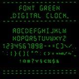 Font green digital clock Royalty Free Stock Photo
