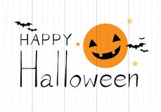 Happy Halloween on wooden background royalty free illustration
