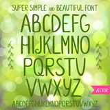 Font Royalty Free Stock Image