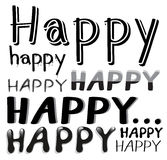 Font Happy Royalty Free Stock Image