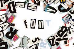 Font inscription Stock Image