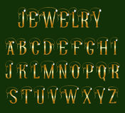 Font jewelry Stock Photos