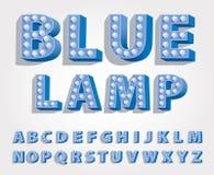 Font lamp blue Stock Photos