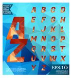 Font lowpoly on abstract background low poly textured triangle s Royalty Free Stock Images