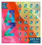Font lowpoly on abstract background low poly textured triangle s. Hapes in random pattern design vector illustration