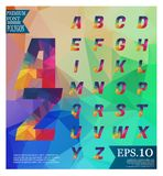 Font lowpoly on abstract background low poly textured triangle s Stock Photography