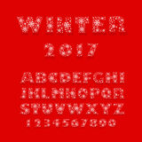 font made of snowflakes Stock Image
