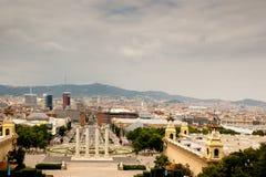 Font Magica de Montjuïc y Barcelona fotos de archivo