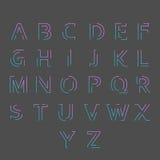 Font with minimal design Stock Photos